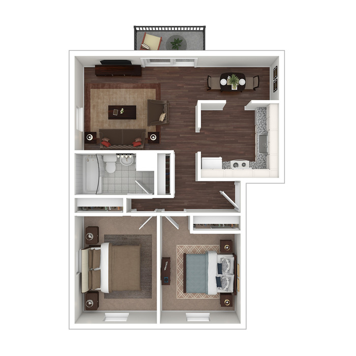 2 Bedroom Floor Plan Image